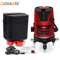 GOXAWEE 5 Laser Lines 6 Points Laser Level Horizon & Vertical Cross 360 Degree Rotary Self leveling Construction Measure Tools