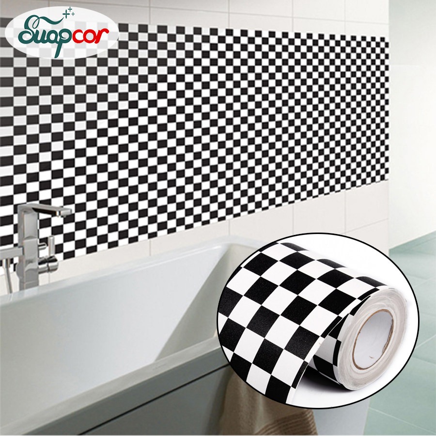 New Waterproof Mosaic PVC Self Adhesive Wallpaper For Kitchen Bathroom Tile  Decorative Film Oil Proof Backsplash