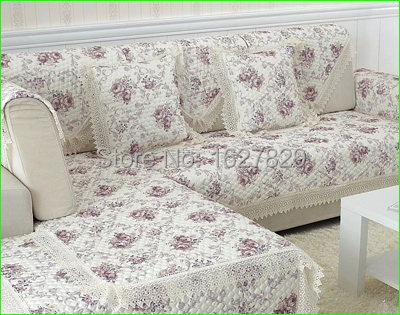 sofacover sectional couch covers fabric Slipcover flowers cubre