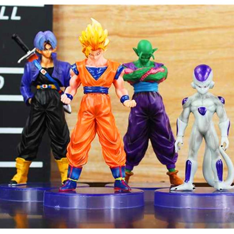 4 шт./лот Dragon Ball Son Goku Frieza трусы Piccolo два поколения ПВХ фигурка Коллекционная модель