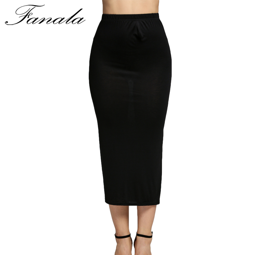 177398cf2d4e Click here to Buy Now!! FANALA Stretch Taille Haute Jupe Femmes Mode ...