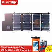 ELEGEEK 26W Portabl SUNPOWER Solar Panel Charger USB DC Dual Output Foldable Solar Panel For IPhone
