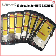10 pezzi/lotto Per Motorola moto G2 G + 1 XT1063 XT1068 LCD Display Touch Assemblea Digitizer dello schermo Per MOTO G 2nd XT1069 LCD