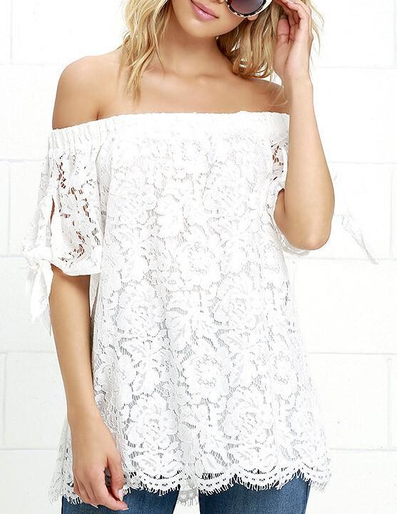 HTB1dujjJVXXXXbkXpXXq6xXFXXXj - Women Blouses Lace Crochet Shirts Fashion Summer Sexy Casual