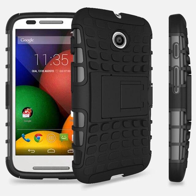 32e90dc9197 Heavy duty rugged spider case For Motorola Moto E XT1021 XT1022 hybrid TPU+PC  Protective Back Cover with Kickstand