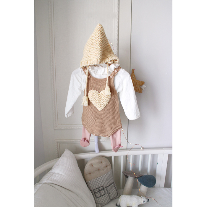 Baby Bodysuit Love Knitting Wool Knitting Sweater Conjoined Sweater Baby Bodysuits