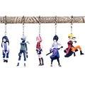 5 Pçs/set 2015 Sakura Hinata Naruto Sasuke Kakashi Chaveiro Boneca de Brinquedo Modelo Coleção Figuras de Ação Mini Kids Presentes # D