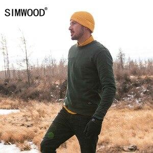 Image 2 - SIMWOOD 2020 spring New Hoodies Men Fashion Vintage Sweatshirts Plus Size Brand Clothing 100% Cotton Pullovers Streetwear 180611