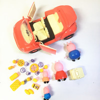 2 17 Pink Pig A New Car With A Set Of Tableware Snacks Plastic Baby Pepeed