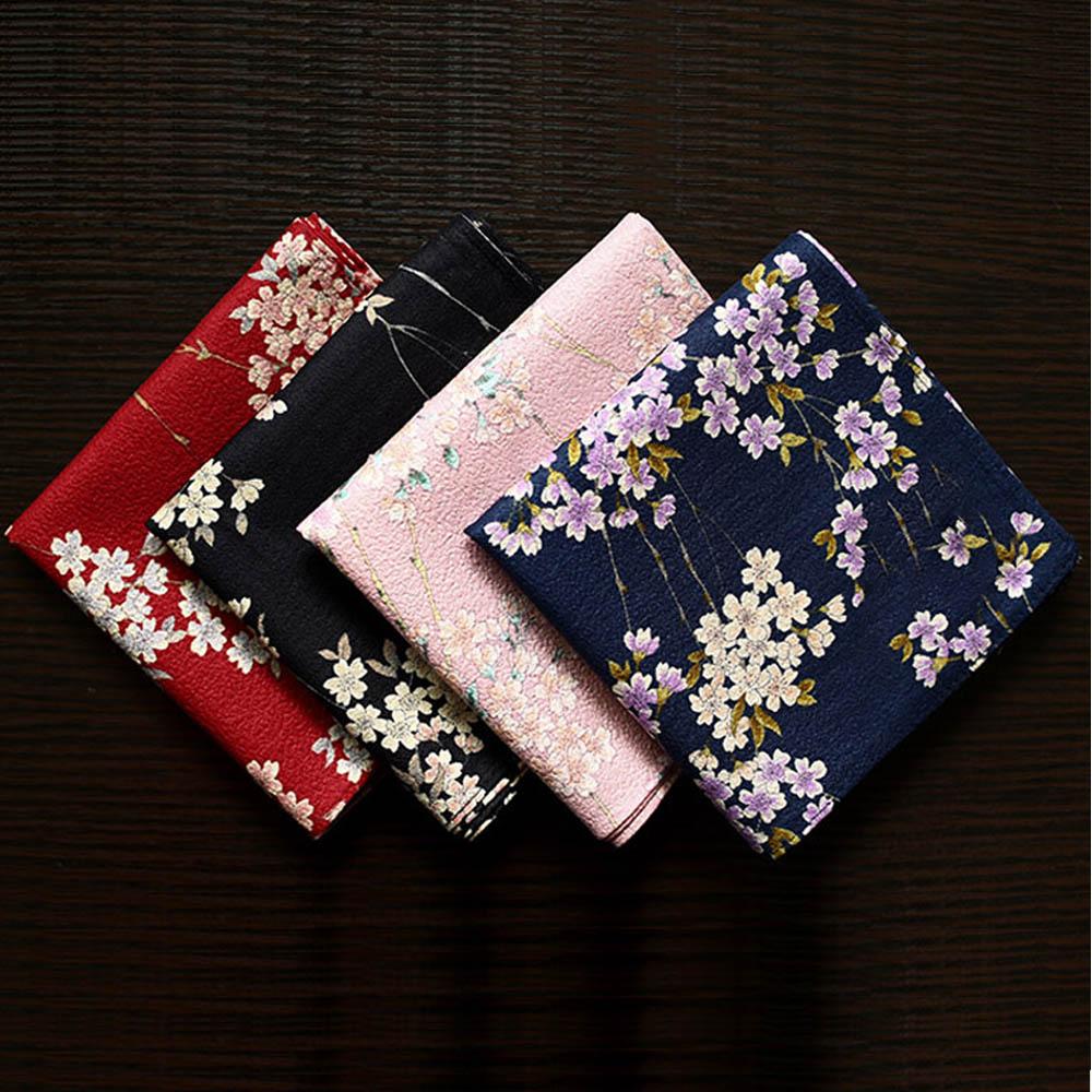 NEW 53*53cm Luxury Fashion Handkerchiefs Multi-use Square Towel Slub Flower Best Gift For Women Nice Sweet Soft Kerchiefs SY1906