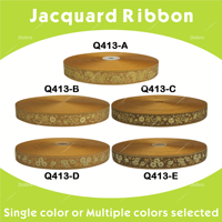7/8 22mm Luxury Gold Design Jacquard Ribbon For DIY Craft Children's Garments Dresses 10 yards 40 yards Q413