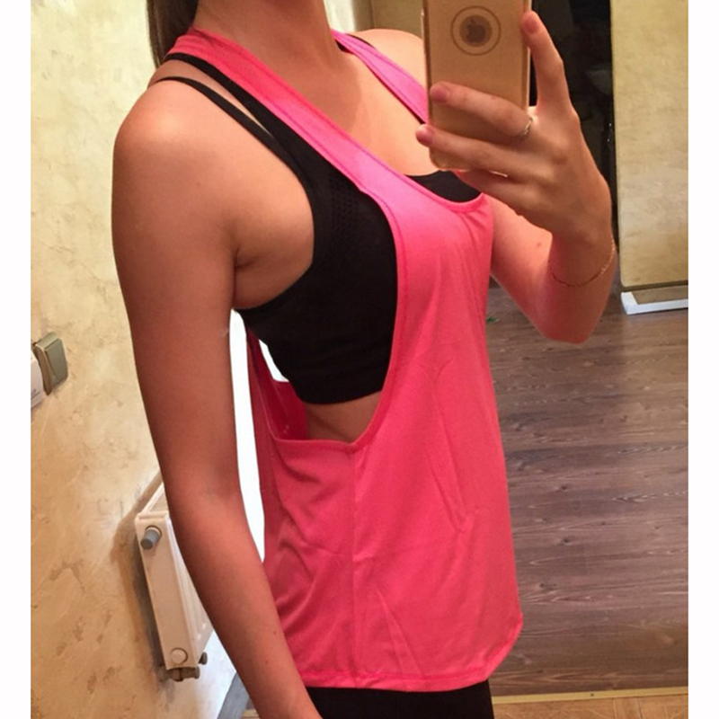 StarHonor Women Yoga Shirts Tops Fitness Sports Vest Sleeveless Shirts Tops Gym Clothes Shirt For Gym Camiseta Running Shirt 6