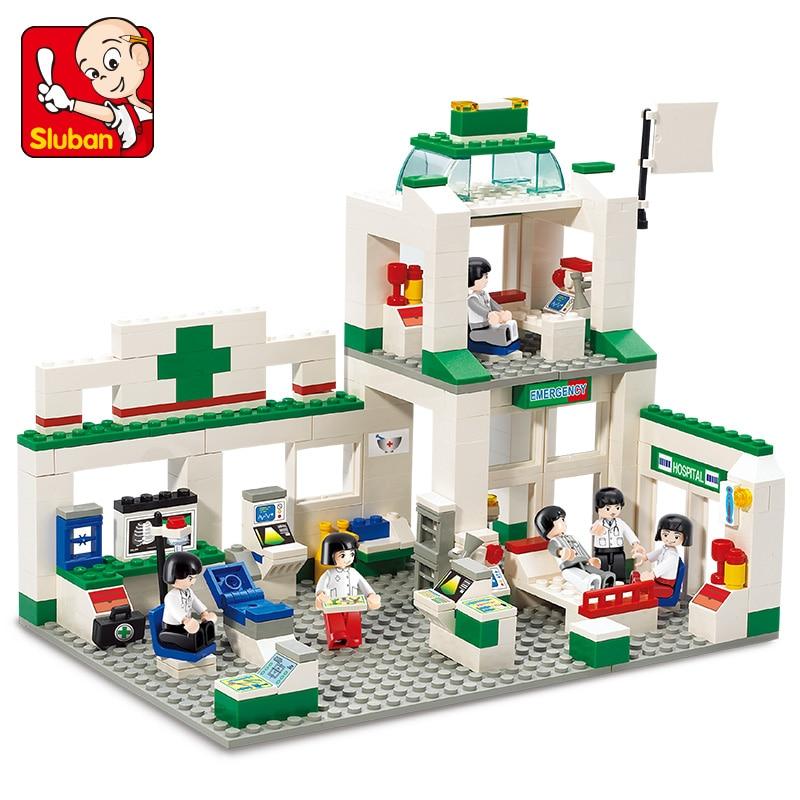 Sluban Model Building Compatible lego Lego B5600 376pcs Model Building Kits Classic Toys Hobbies Emergency Center цена