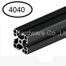 Черный алюминиевый профиль алюминиевый экструзионный профиль 4040 40*40 обычно используется в сборке рамы устройства, стола и выставочного стенда