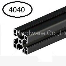 أسود الألومنيوم الشخصي ملف بنتوء من الألمنيوم 4040 40*40 يشيع استخدامها في تجميع جهاز الإطار و طاولة و عرض موقف