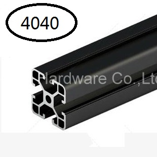 Black Aluminum Profile Aluminum Extrusion Profile 4040 40*40 Commonly Used In Assembling Device Frame, Table And Display Stand