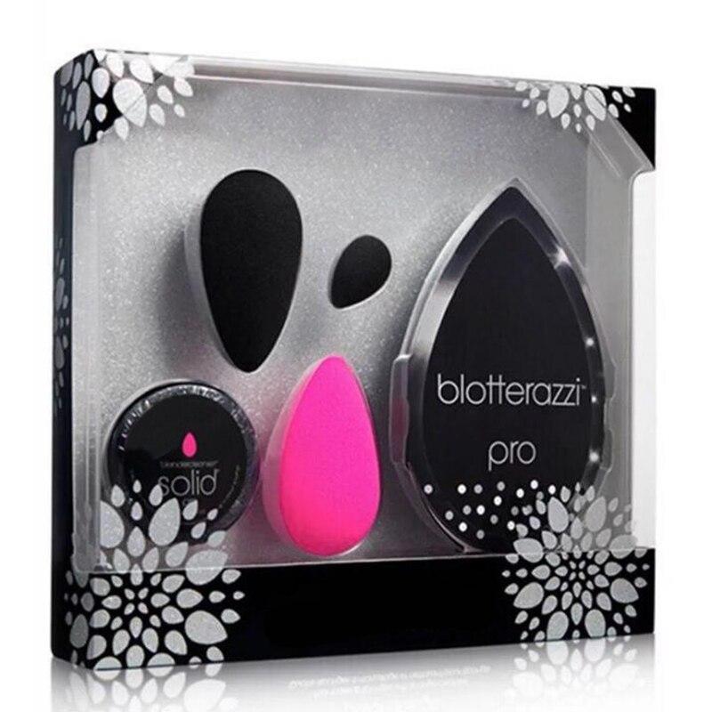 Marca de Maquiagem Kit de Maquiagem Esponja Sopro de Cosméticos Conjunto 4 Em 1 Crescer Grande Maquiagem Sopro Esponja Fundação BB Creme esponja