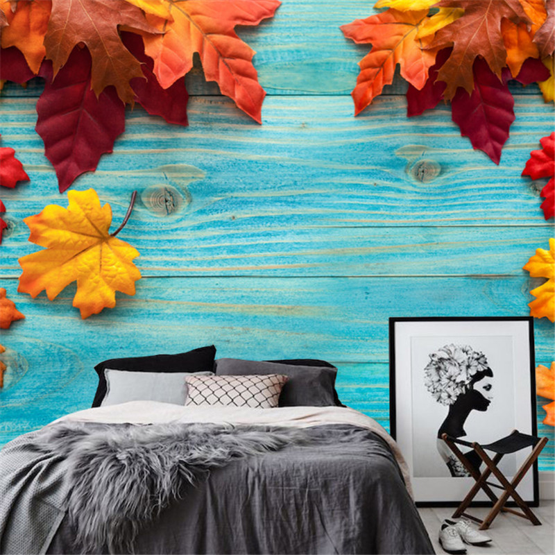 custom modern 3d photo wallpaper wall murals 3d wallpaper European Euclidean woodcut maple leaf living room TV background wall custom 3d photo wallpaper for walls 3 d wall murals wallpaper 3d european style white building palace living room tv wall paper