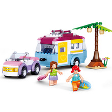 Sluban Model Building Compatible B0606 272pcs Kits Classic Toys Hobbies Girl Camper