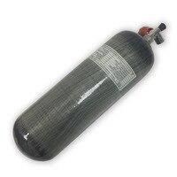 Новый 9L EN12245 pcp Пневмопушка 300bar 4500psi air цилиндр углеродного волокна hpa бак с клапаном E перевозка груза падения