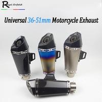 Universal 36 51mm Modified Motorcycle Exhaust Pipe Muffler for akrapovic For Yamaha for BWS 125 FZ07 09 FZ1 FZ8 FZ6R MT09 MT07