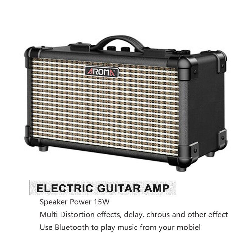 Ampli portatif de l'amplificateur 15 W de guitare électrique d'arome TM-15A avec l'interface de Microphone batterie Rechargeable intégrée et Bluetooth