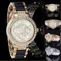 Роскошные старинные Часы Женева Час Горный Хрусталь Кристалл Женщины Дамы Алмазный Кварцевые Наручные Часы Точного Времени Montre Роковой подарок