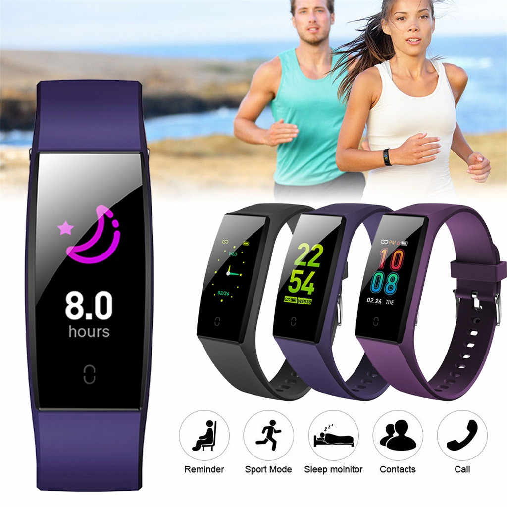 watch Color Women Sports Smart Watch Blood Pressure Monitoring Heart Rate Wristband Fashion Fitness Tracker Heart Rate #411