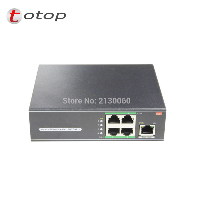 802.3at Switch, POE Switch, 4Port POE+1 Uplink, IEEE 802.3af/at, PoE Output 15.4W, Max Single Port 30W, Total 60W