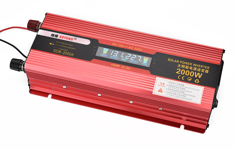 surge power 2000W LCD Display 950W Car Power Inverter DC12V to AC220V Battery Converter Supply Charger