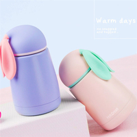 2016 Cute Mini Thermos Cup Rabbit Stainless Steel Mug Lovely Portable Travel Vacuum Cup 300ml Christmas