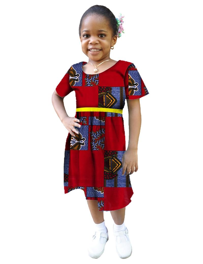 2018 Traditional African Clothing Bazin Dresses For Women Dashiki Kids Children Dress BRW WYT08