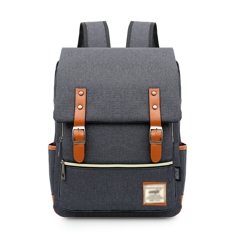 FOPATI Newest Canvas Backpack Tide College Men and Women bags Middle School Students Shoulder bag Casual Travel bag women canvas stripe shoulder bags casual capcity multifunction backpack students school bags