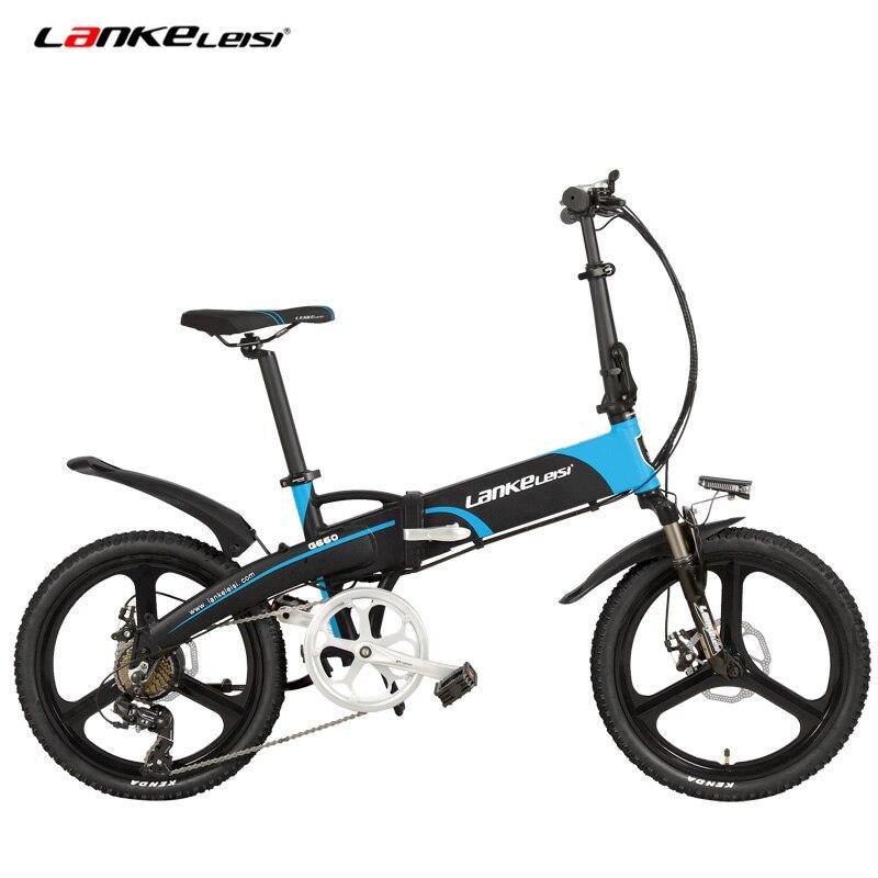 7 geschwindigkeit Elektrische Fahrrad, Tragbare 20 Zoll 240W 48V 10Ah Klapp Ebike, Integrierte Rad, versteckte Lithium-Batterie