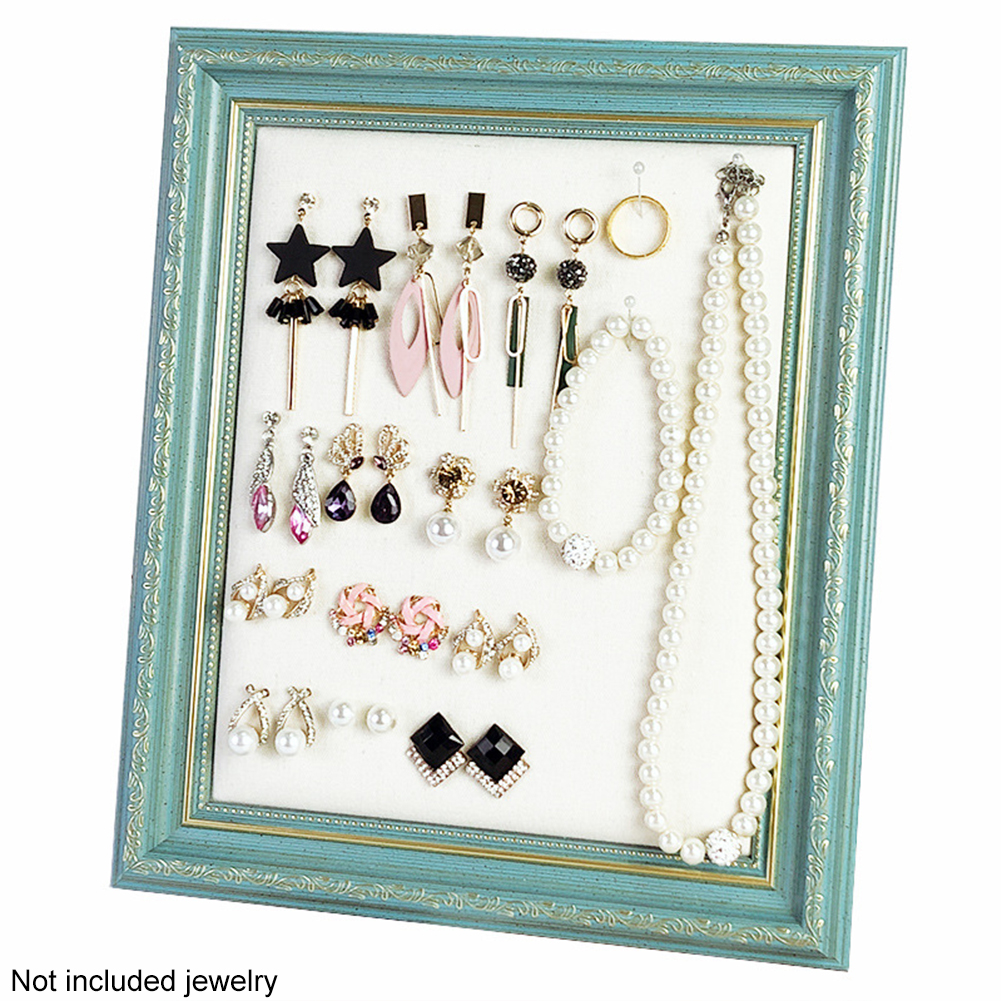 Jewelry Holder Decorative Eco Friendly Display Stand Portable Lightweight Photo Frame Type Practical Earrings Organizers Storage