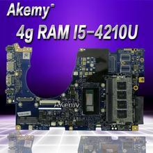 Akemy UX303LA Материнская плата ноутбука para ASUS UX303LA UX303LB UX303LN UX303L UX303 тесте mainboard оригинальный 4g Оперативная память I5-4210U