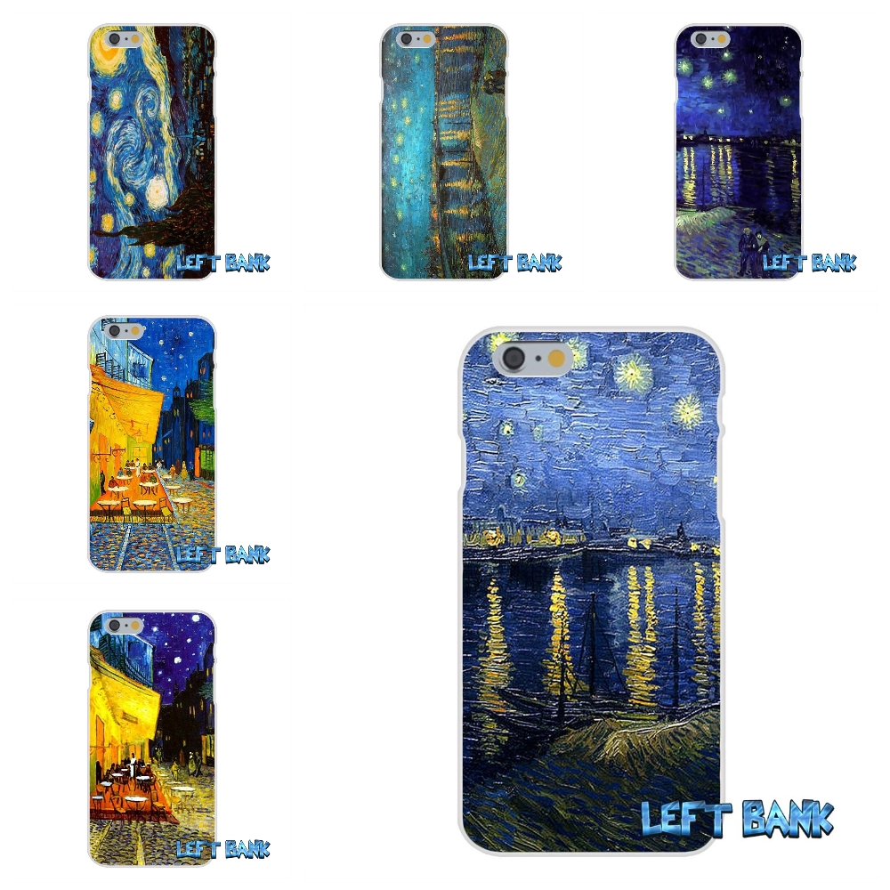 Für <font><b>Samsung</b></font> Galaxy A3 A5 A7 J1 J2 J3 J5 <font><b>J7</b></font> 2016 2017 Vincent <font><b>van</b></font> <font><b>Gogh</b></font> 1888 Sternenklare Nacht Weiche Silikon TPU Transparente Abdeckung fall image