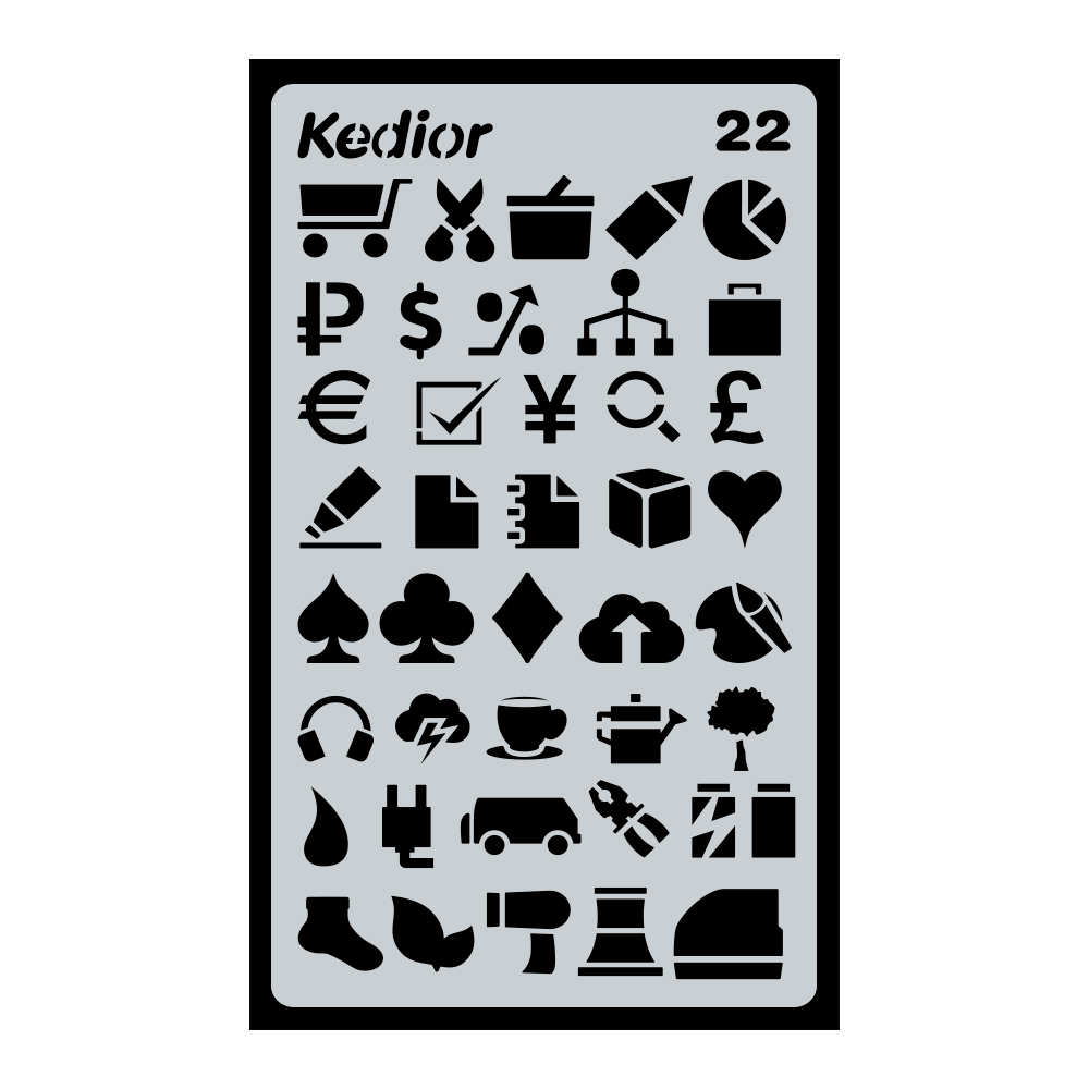 Bullet Journal Supplies,1 Piece Plastic Planner Stencil DIY Drawing Art Supplies for Journal,Notebook,Diary,Scrapbook #22