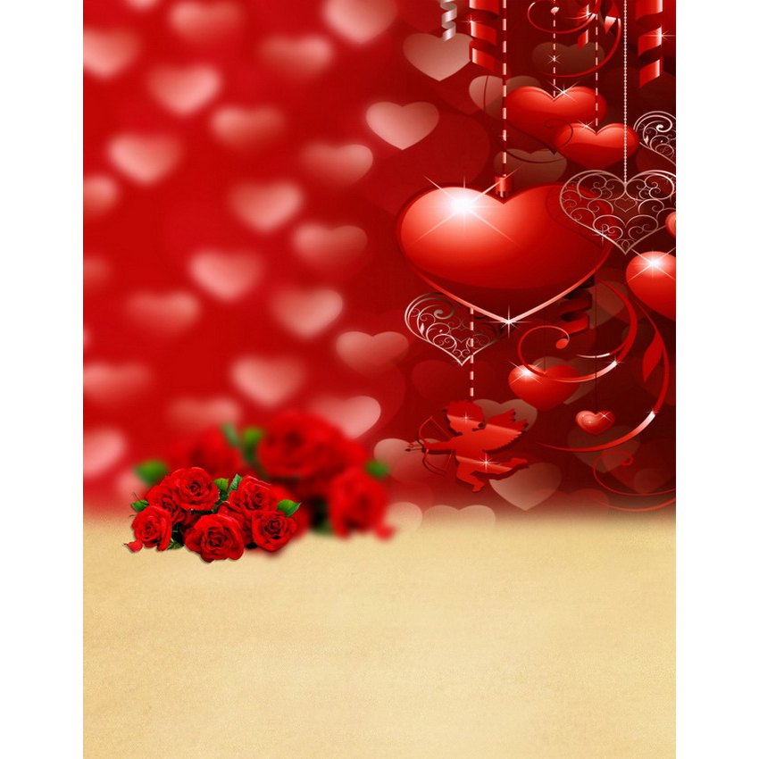 Custom vinyl cloth print love hearts photo studio backgrounds for lovers portrait photography backdrops props S-2150 блузка cuseberry