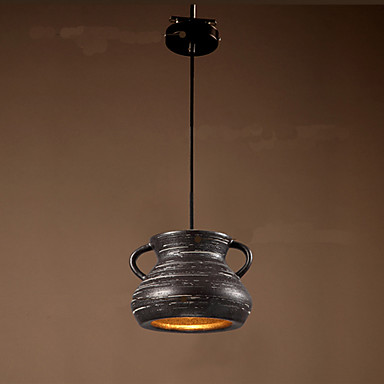 Retro Loft Style LED Pendant Light Fixtures Vintage Industrial Lighting  Dining Room Ceramic Hanging Lamp For