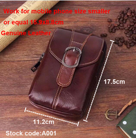 Belt Clip Man Genuine Cow Leather Mobile Phone Case Pouch For Huawei Mate 10 Pro Mate