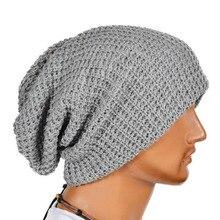 Hot Selling Chic Men Women Warm Winter Knit Ski Beanies Skull Bandana Slouchy Oversized Cap Sport Hat Unisex Bonnet