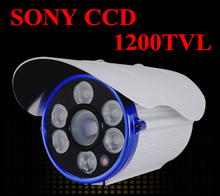 Free Shipping 2016 NEW SONY CCD Outdoor Waterproof CCTV Camera 1200TVL High Definition IR distance of 100 meters