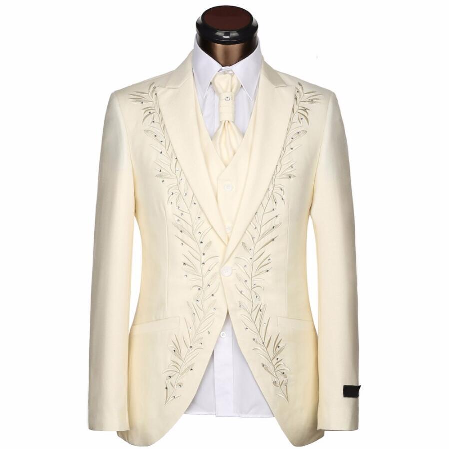 Costume Cravate Mode Pantalon Epoux vestes Vente Mariage Mince Robe D'affaires De pièce Trois Gilet Chaude Hommes qzwwECB