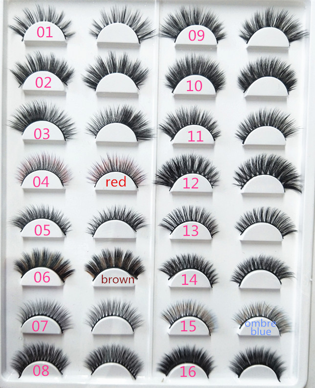 16 styles Mixed 3D strip lashes false eyelash extensions faux mink eye lash free shipping