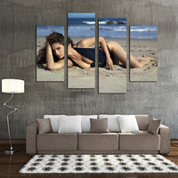 Creative four spell figure decoration, frameless hanging painting, 1124 beach swimsuit beauty