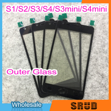 50Pcs LCD Outer Glass Lens for Samsung Galaxy S1 S2 S3 S4 S3mini S4 mini I9000 I9100 I9300 I9500 I8190 I9190 With Laminated OCA s style protective tpu back case for samsung galaxy s4 mini i9190 translucent white