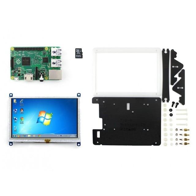 Raspberry Pi2 Model B Package E# Raspberry Pi 2B + 5inch HDMI LCD (B) LCD + Bicolor case + 8GB Micro SD card