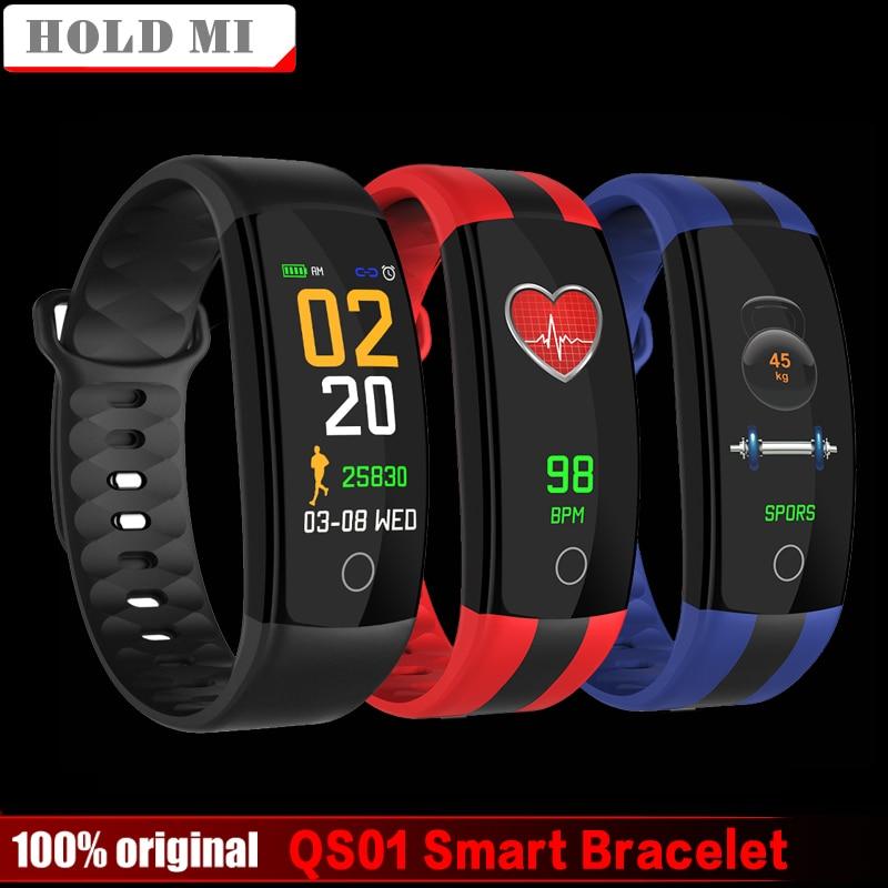 Newest Smart Bracelet Watch QS01 Fitness Tracker Blood Pressure Heart Rate Monitor Smartwatch Waterproof PK QS80 Smart Band