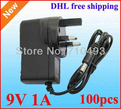 Adapter ACDC 9 V 1A 1000mA zasilacz ładowarka UK wtyczka